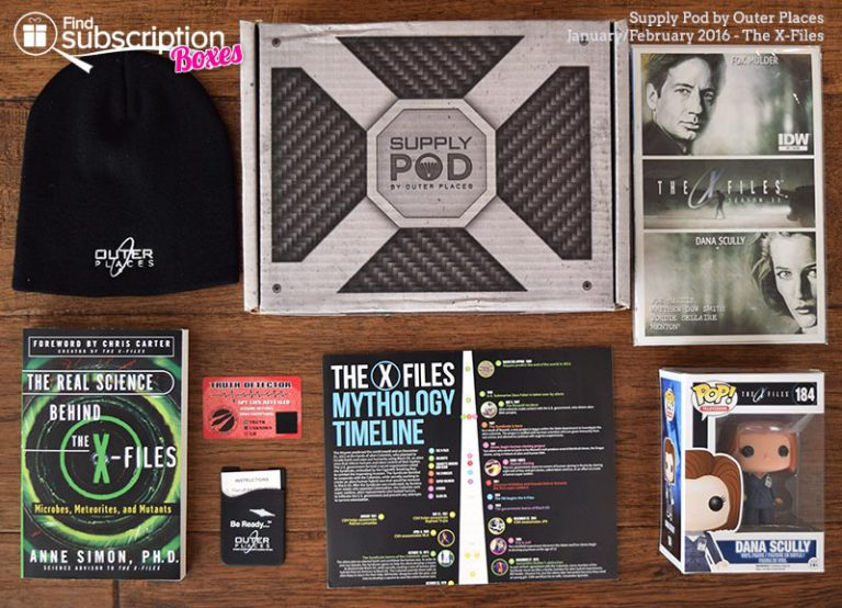 February 2016 Supply Pod Review - The X-Files - Box Contents
