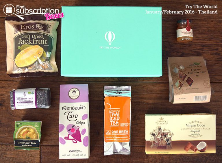 February 2016 Try The World Review - Thailand Box - Box Contents