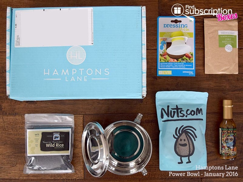 January 2016 Hamptons Lane Review - Power Bowl - Box Contents