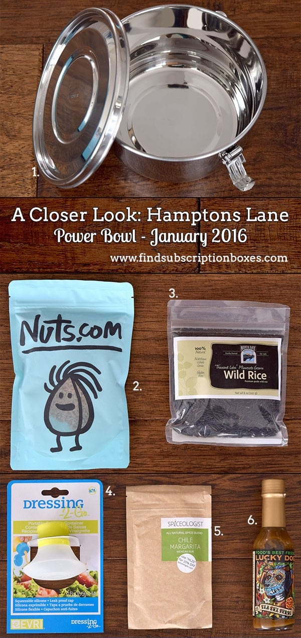 January 2016 Hamptons Lane Review - Power Bowl - Inside the Box