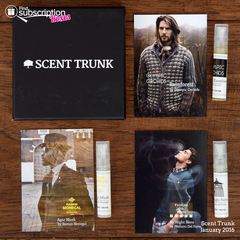 January 2016 Scent Trunk Review - Box Contents