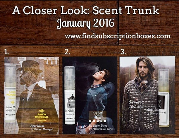 January 2016 Scent Trunk Review - Inside the Box