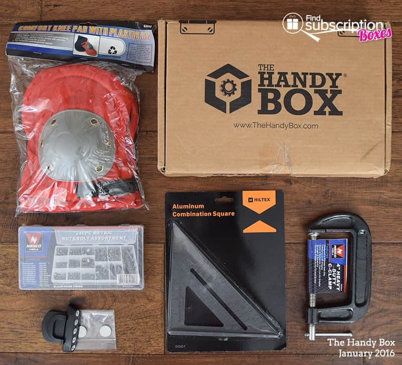 January 2016 The Handy Box Review - Box Contents