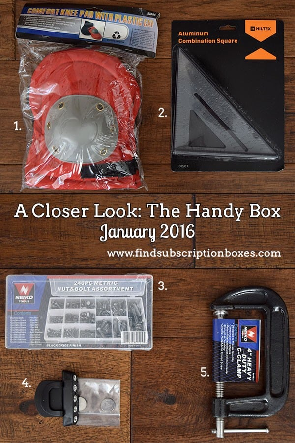 January 2016 The Handy Box Review - Inside the Box