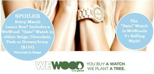 Luxor Box March 2016 Box Spoiler - WeWOOD Watch