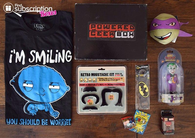 January 2016 Powered Geek Box - Box Contents