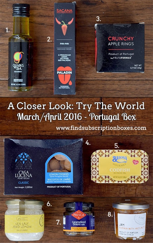 March / April 2016 Try The World Portugal Box Review - Inside the Box