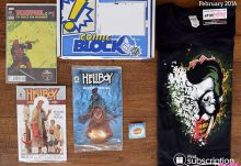 Comic Block February 2016 Box Review - Box Contents