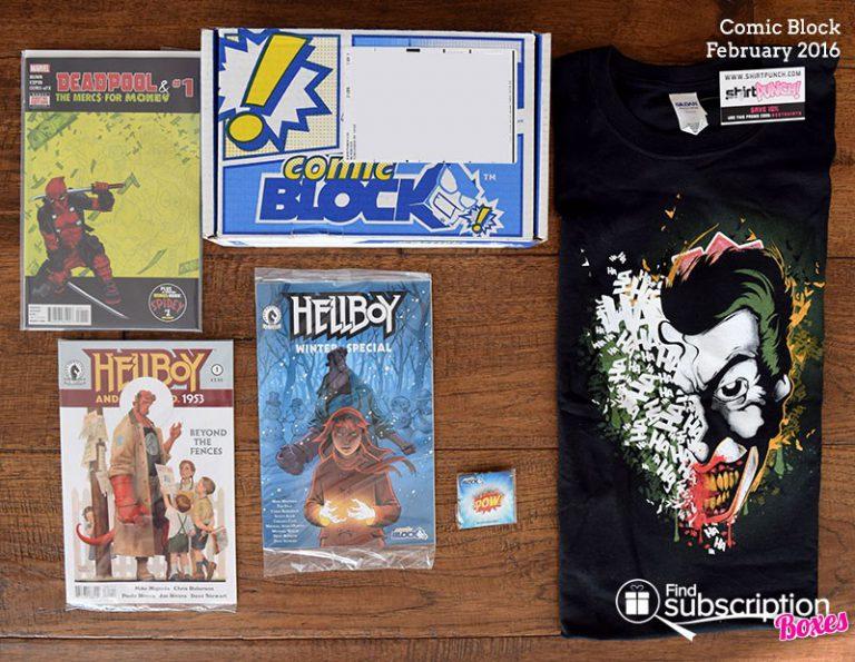 Comic Block February 2016 Box Review - Box Contents
