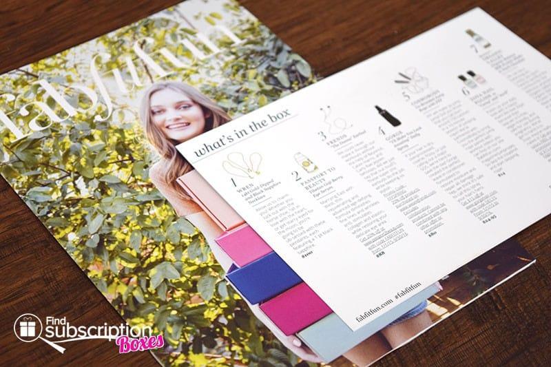 FabFitFun VIP Welcome Box Review - Magazine