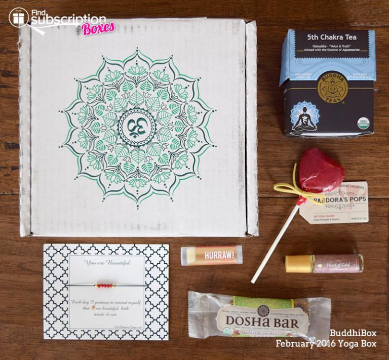 February 2016 BuddhiBox Review - Box Contents