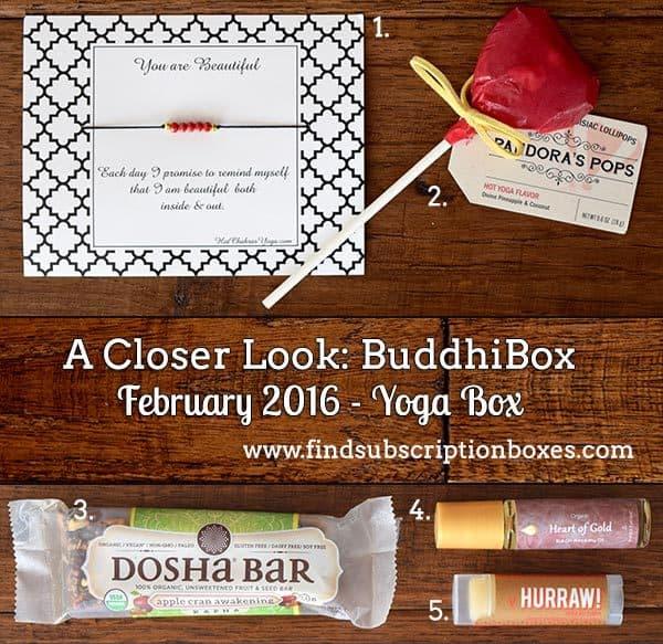 February 2016 BuddhiBox Review - Inside the Box