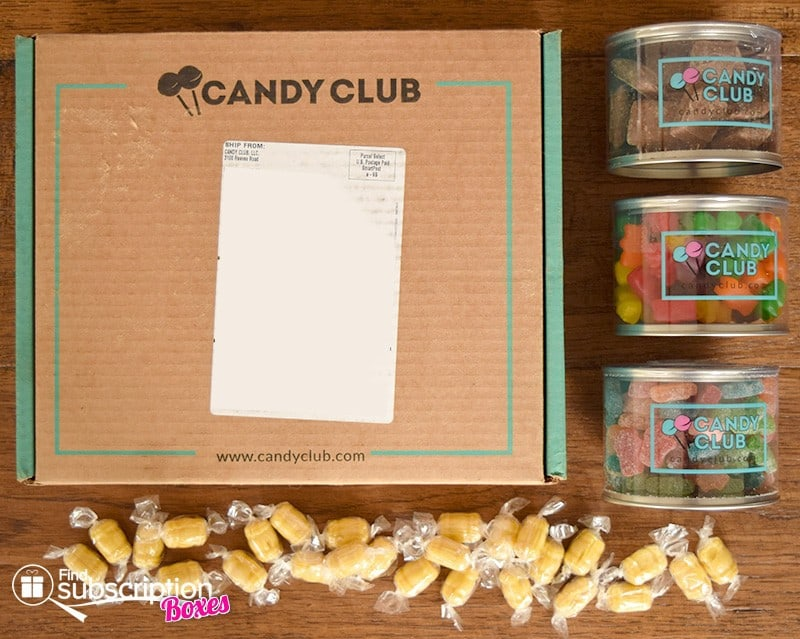 February 2016 Candy Club Review - Box Contents