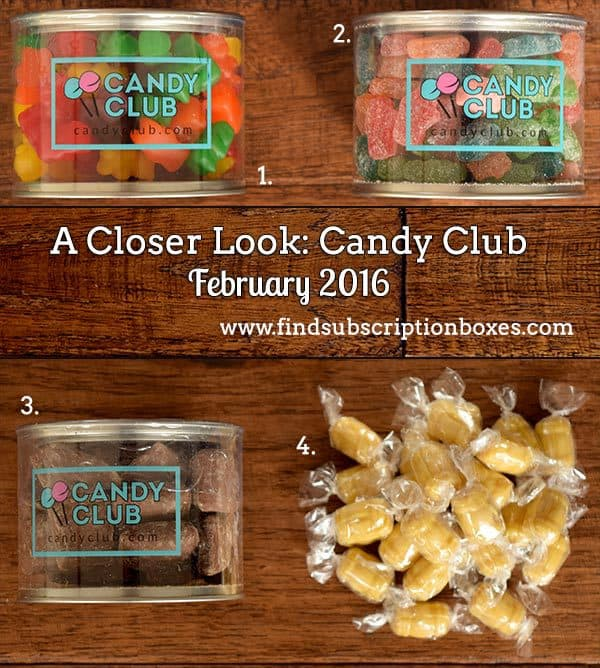 February 2016 Candy Club Review - Inside the Box