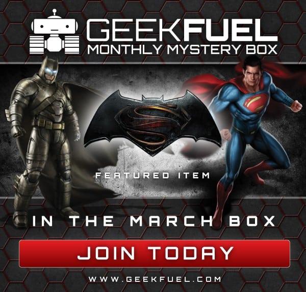 Geek Fuel March 2016 Box Spoiler - Batman v Superman