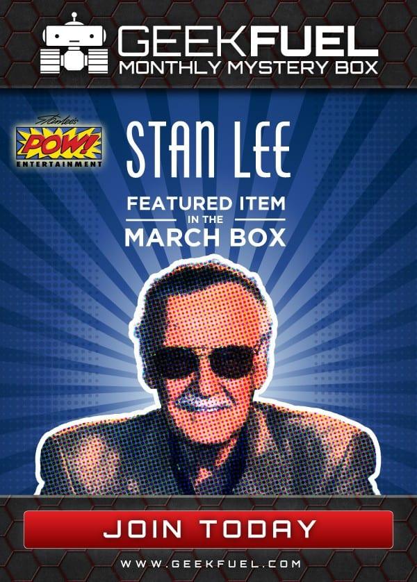 Geek Fuel March 2016 Box Spoiler - Stan Lee