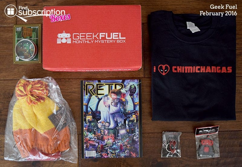 February 2016 Geek Fuel Review - Box Contents