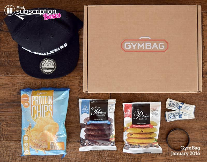 January 2016 GymBag Review - Box Contents