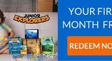 Junior Explorers First Month Free