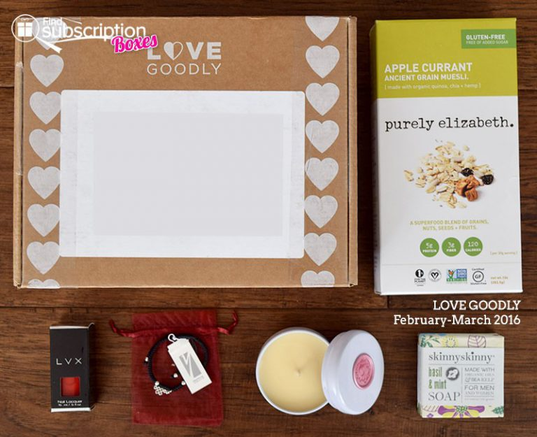 LOVE GOODLY Review - February-March 2016 - Box Contents