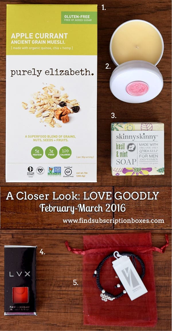 LOVE GOODLY Review - February-March 2016 - Inside the Box