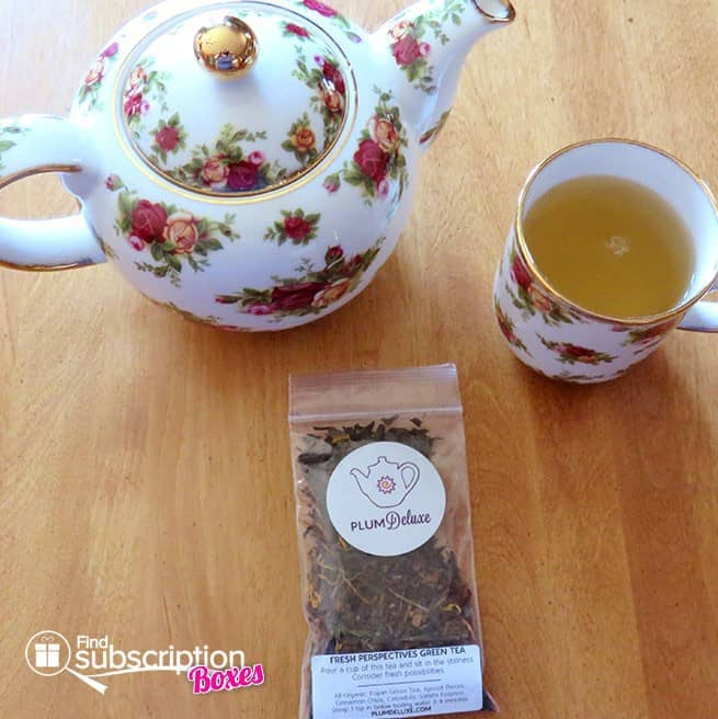 Plum Deluxe Organic Tea of the Month Club Review - Fresh Perspectives Green Tea