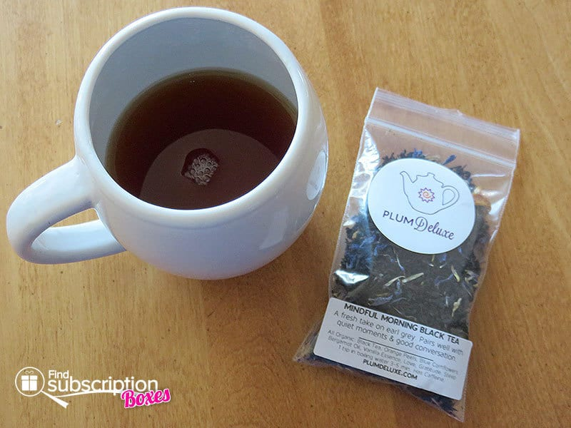 Plum Deluxe Organic Tea of the Month Club Review - Mindful Morning Black Tea