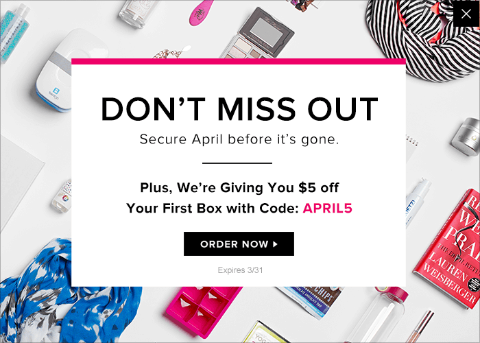 POPSUGAR April 2016 Must Have Box Coupon