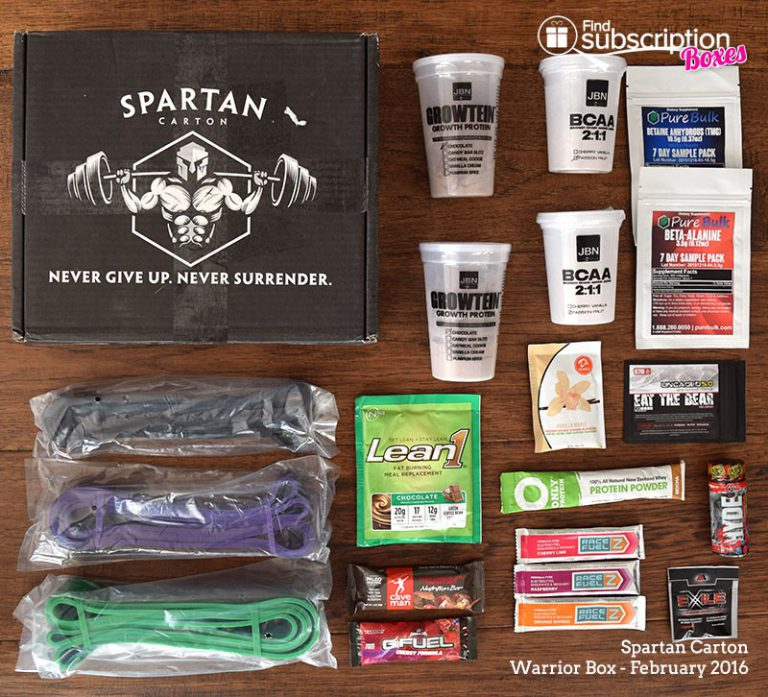 February 2016 Spartan Carton Review - Box Contents