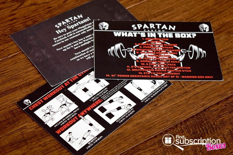 February 2016 Spartan Carton Review - Product Cards