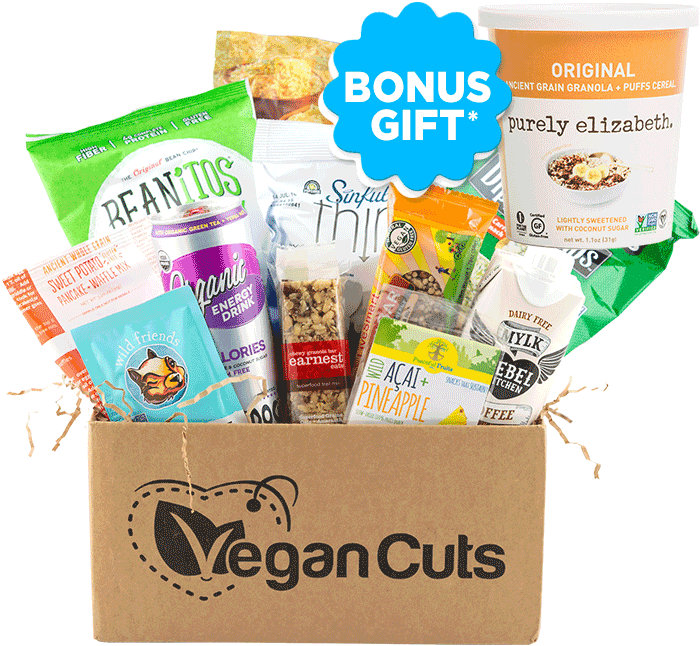 Vegan Cuts March 2016 Snack Box Bonus Gift