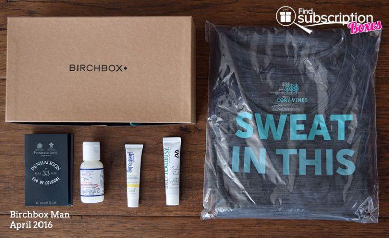 April 2016 Bircxhbox Man Review - Box Contents