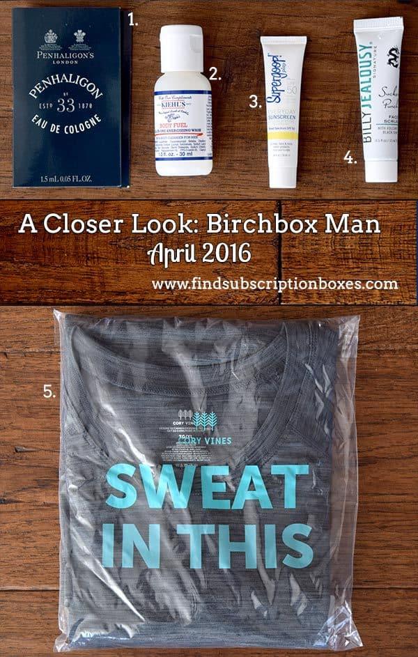 April 2016 Birchbox Man Review - Inside the Box