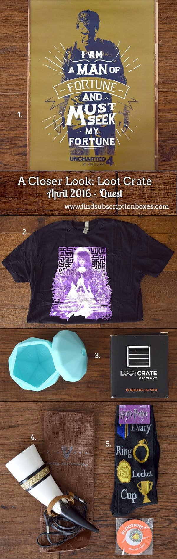 April 2016 Loot Crate Review - Quest Crate - Inside the Box