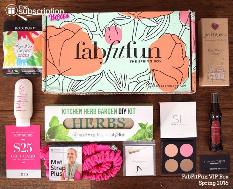 Spring 2016 FabFitFun VIP Box - Box Contents
