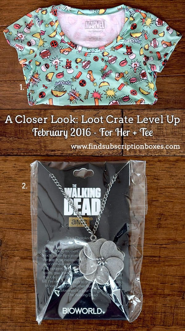 February 2016 Loot Crate Level Up - For Her + Tee Bundle