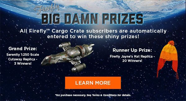 Firefly Cargo Crate May 2016 Giveaway Prizes
