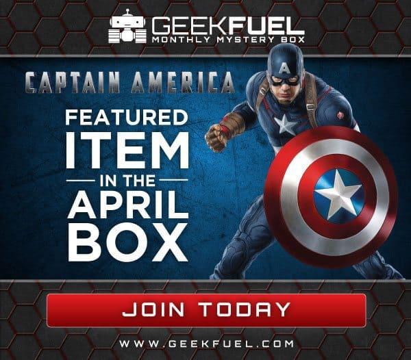 Geek Fuel April 2016 Box Spoiler - Captain America