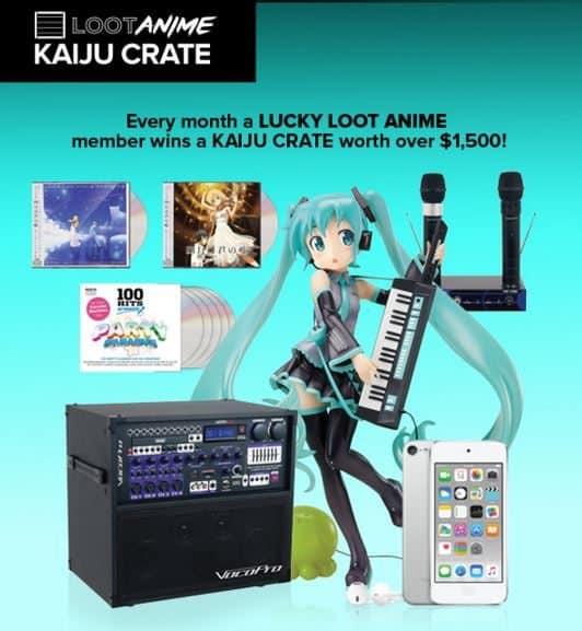 Loot Anime April 2016 Kaiju Crate