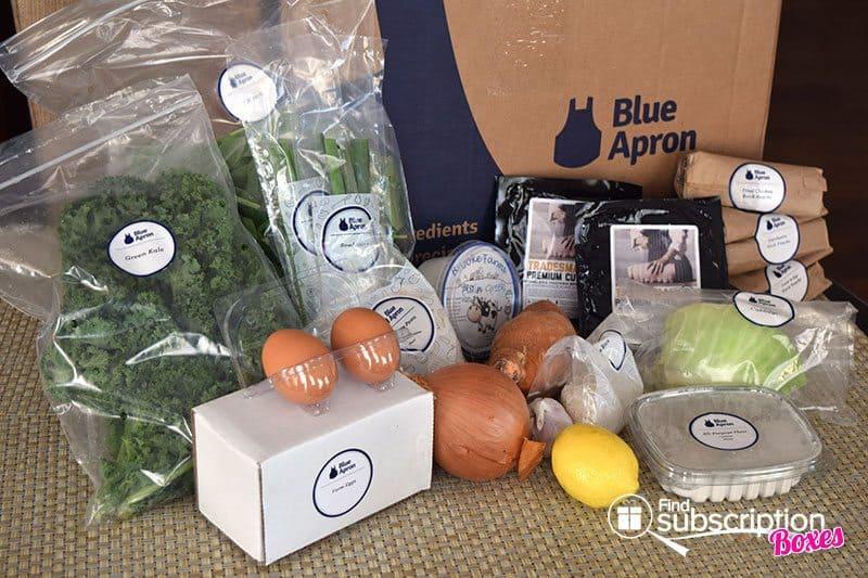 March 2016 Blue Apron Review - Box Contents