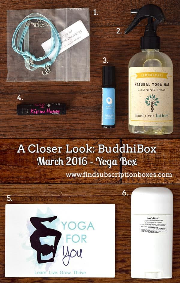 March 2016 BuddhiBox Review - Box Contents
