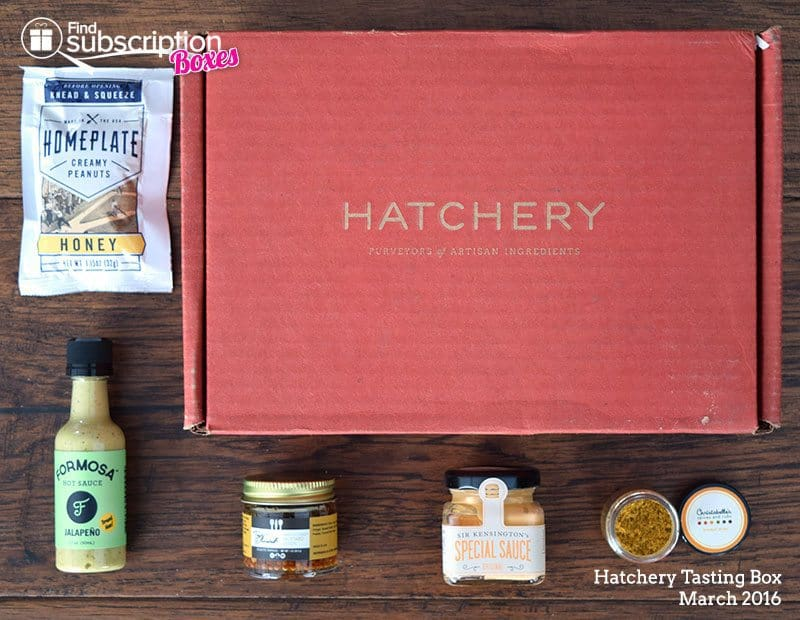 March 2016 Hatchery Tasting Box Review - Box Contents