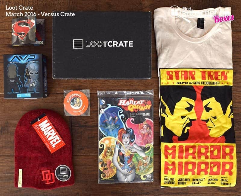 March 2016 Loot Crate Review - Versus Crate - Box Contents
