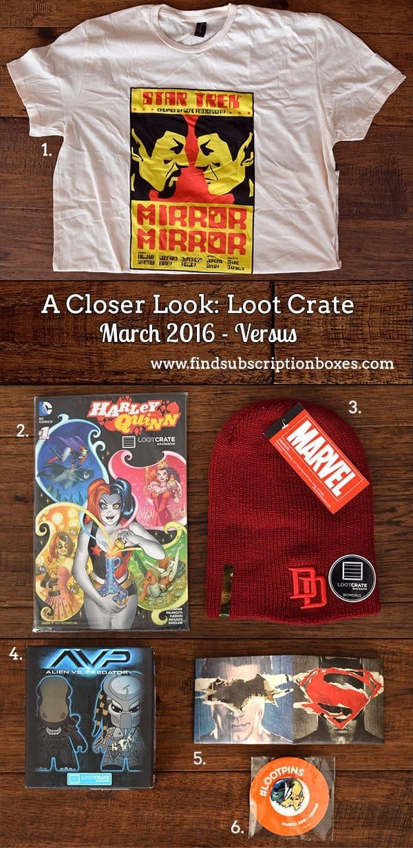 March 2016 Loot Crate Review - Versus Crate - Inside the Box