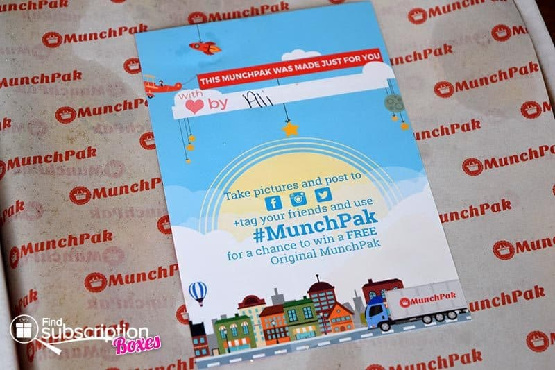 March 2016 MunchPak Review - Card