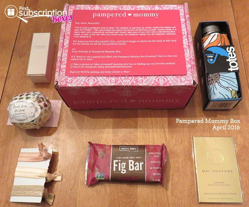 April 2016 Pampered Mommy Box Review - Box Contents