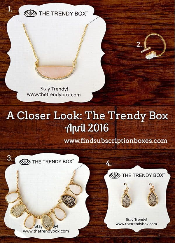 April 2016 The Trendy Box Review - Inside the Box