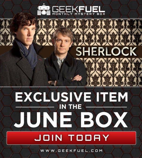 Geek Fuel June 2016 Box Spoiler - BBC Sherlock