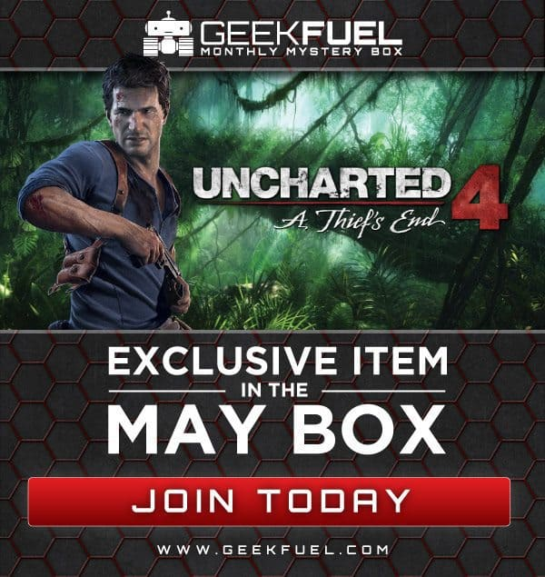 Geek Fuel May 2016 Box Spoilers - Uncharted