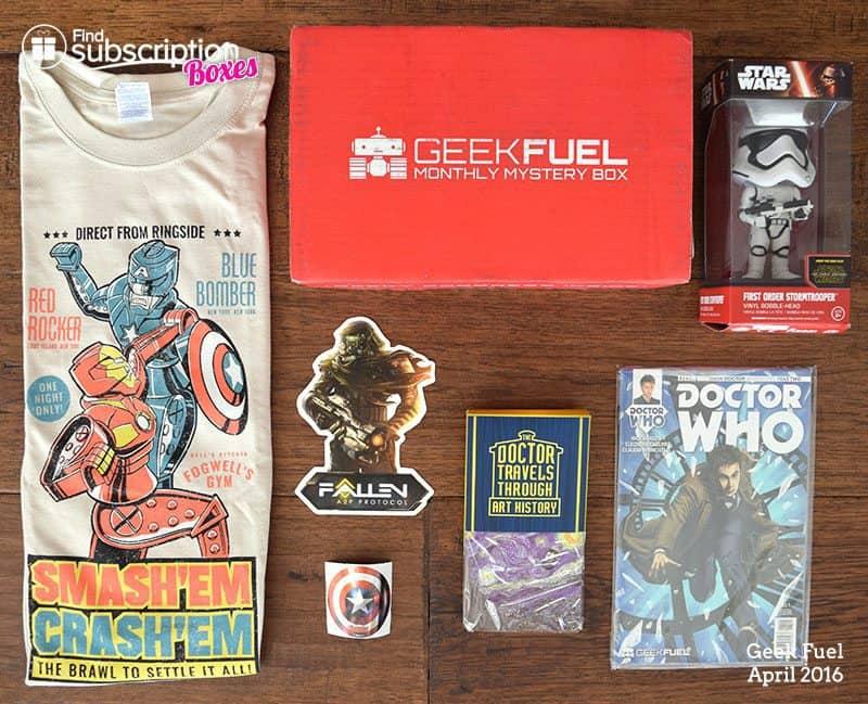April 2016 Geek Fuel Review - Box Contents
